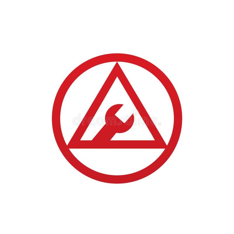 Under underhållssymbolen för både logo och appsymbol vektor illustrationer