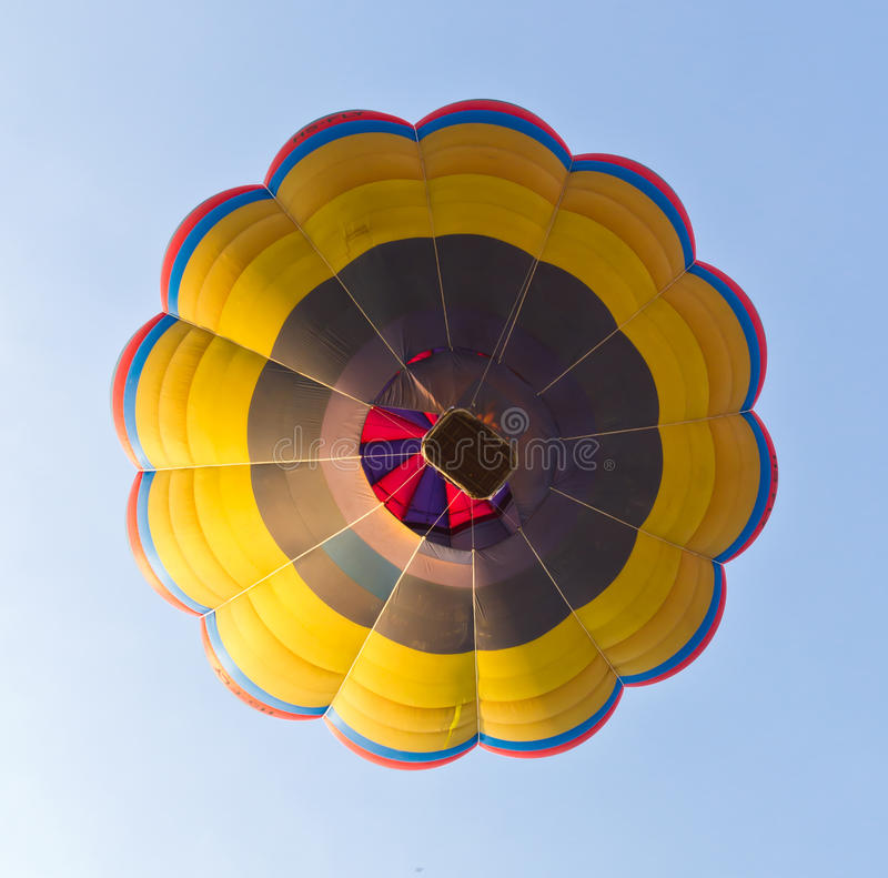 Download Under View Of Hot Air Balloon Stock Image - Image: 18154259