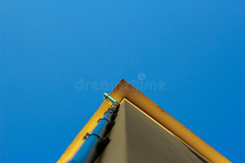 Under view yellow building royalty free stock photo