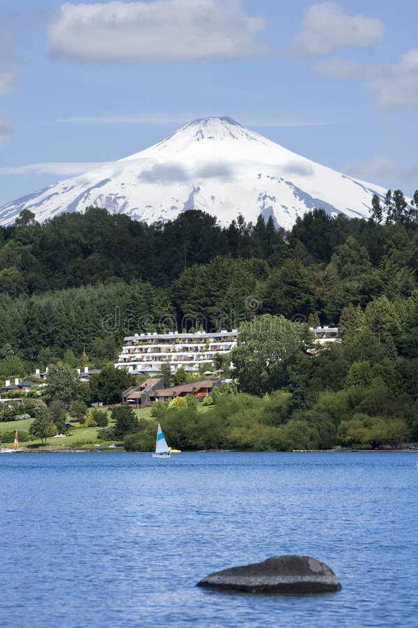 Under Villarrica volcano royalty free stock image