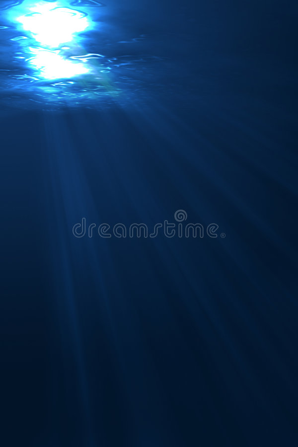 Under Water royalty free illustration