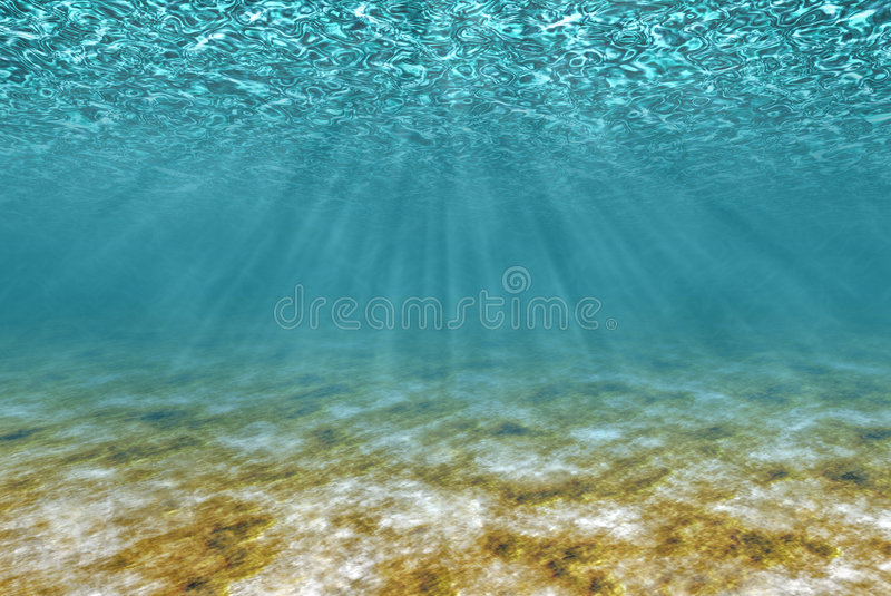 Download Under water stock illustration. Image of rays, river, depth - 8887185