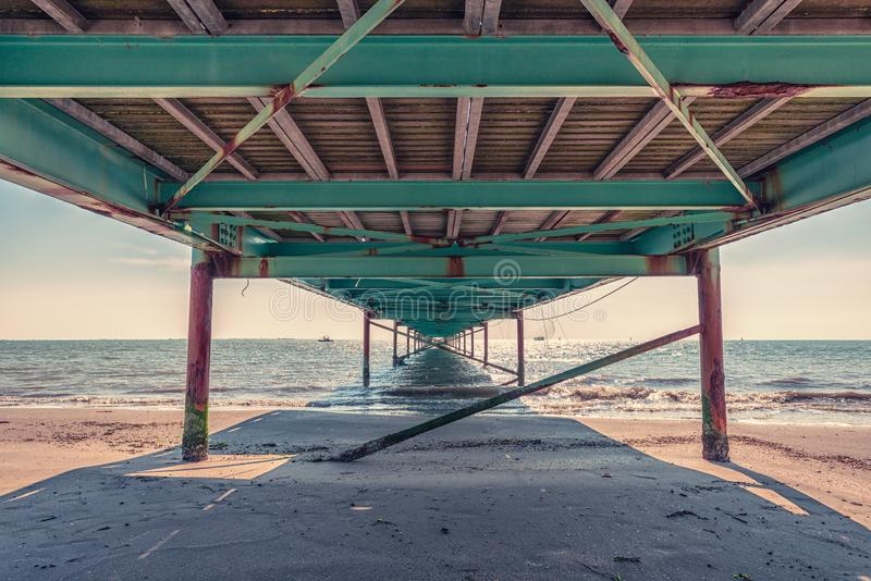 Under the wharf stock photography