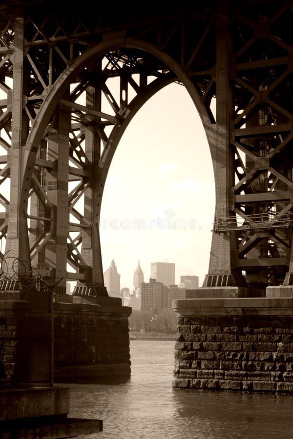 Under the Williamsburg Bridge royalty free stock image