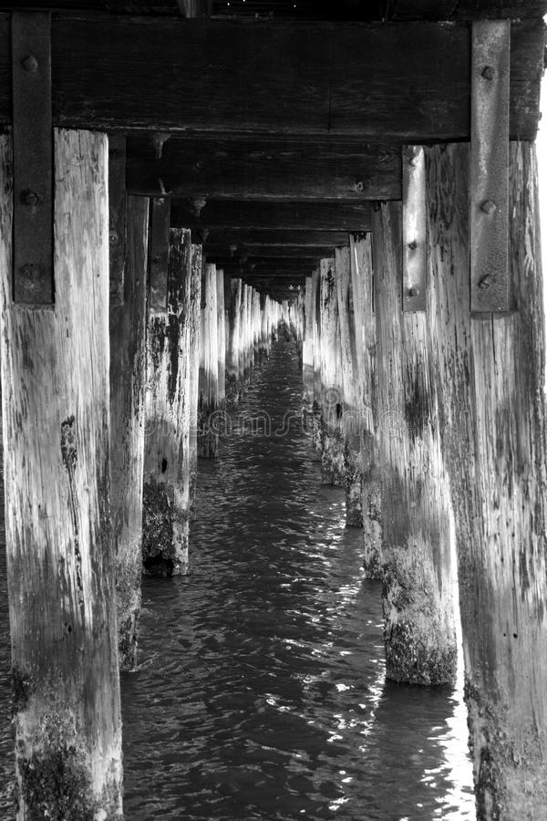Under a Wooden Pier royalty free stock images