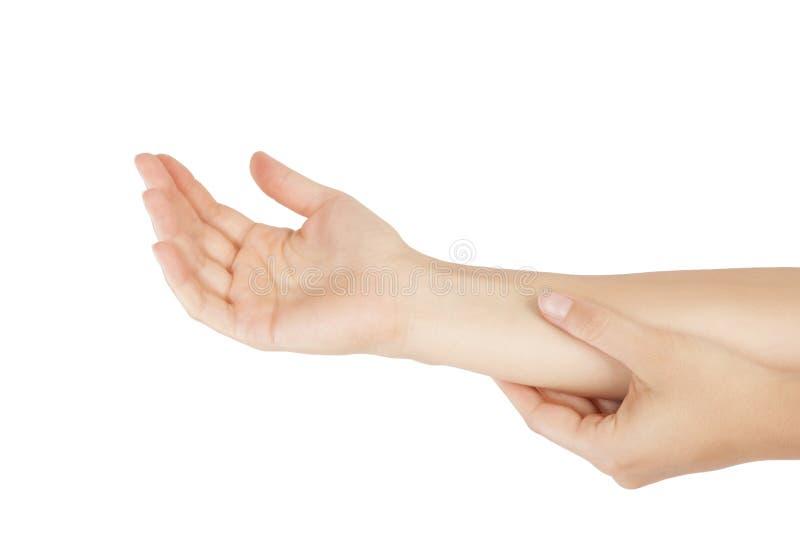Underarmen smärtar royaltyfri fotografi