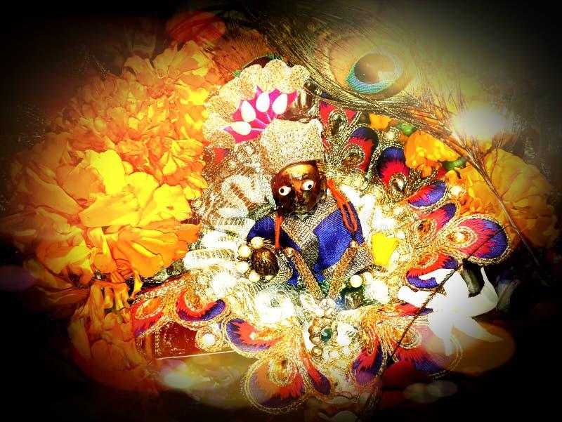 Underbar bild av barnet Krishna arkivfoto
