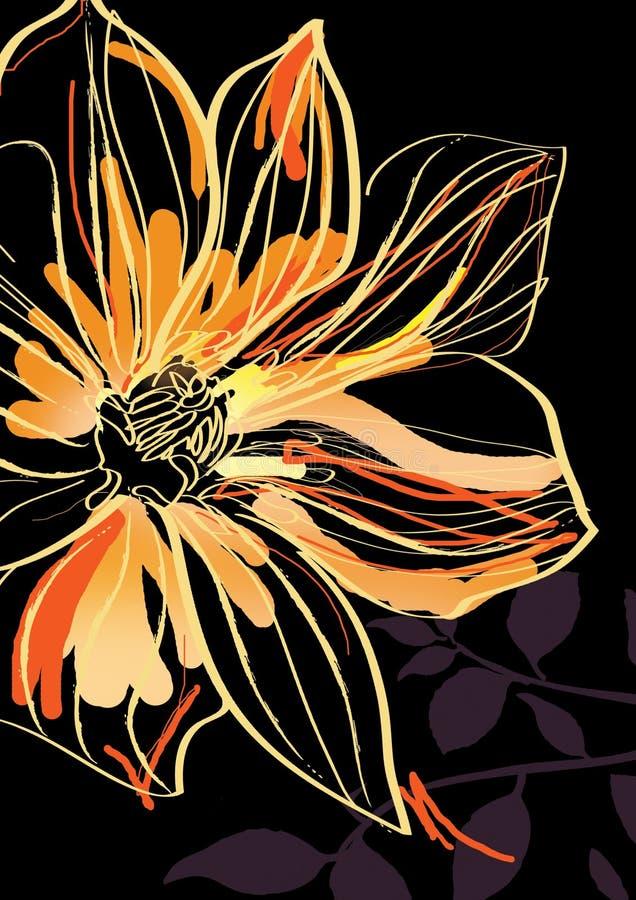 underbar blomma royaltyfri illustrationer