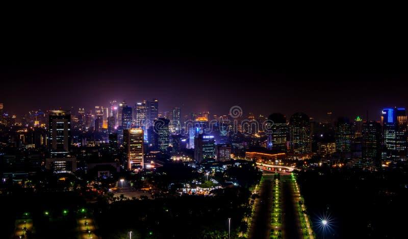 Underbar sikt från Monas, Jakarta indonesia arkivbilder