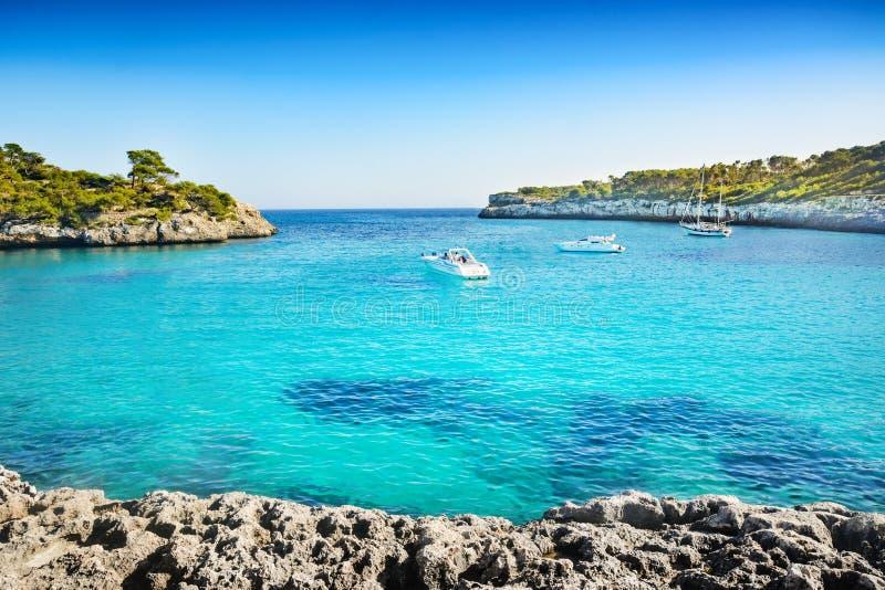 Underbar strand i Mallorca royaltyfria foton