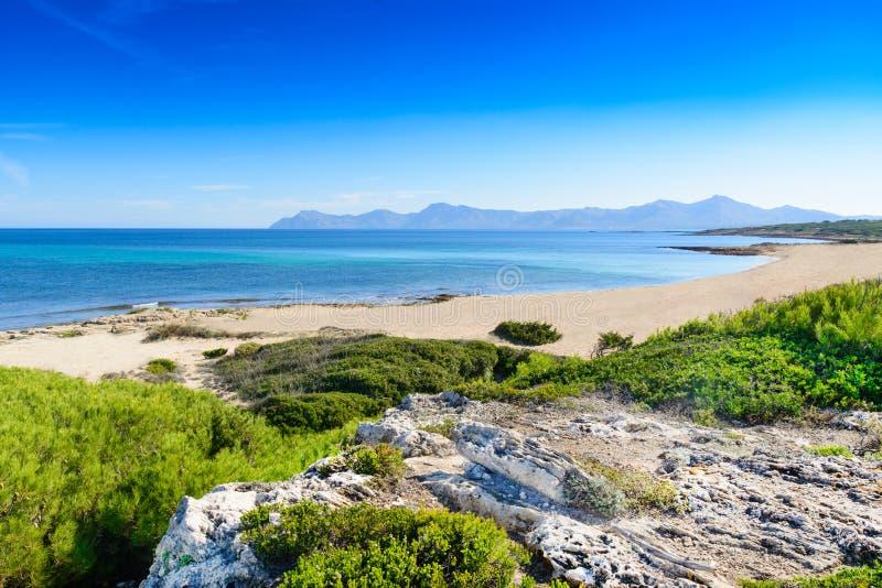 Underbar strand i Mallorca royaltyfria bilder