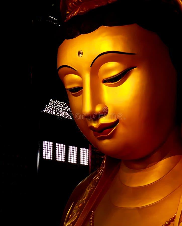 underbar yin för guan staty fotografering för bildbyråer