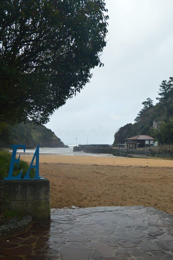 Underbart fototillfångatagande av den storartade stranden av Ea Naturlandskaplopp fotografering för bildbyråer