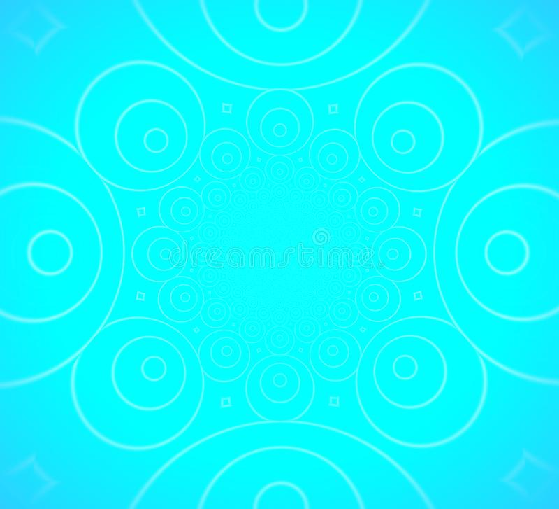 Undercirklar på blå bakgrund vektor illustrationer