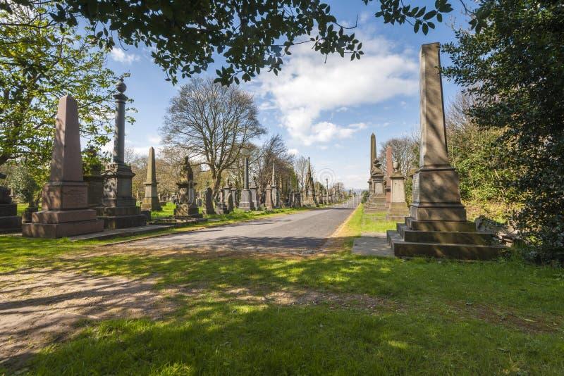 Undercliffe公墓,布雷得佛 库存照片