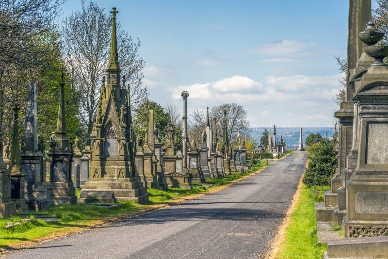 Undercliffe cmentarz, Bradford zdjęcie royalty free