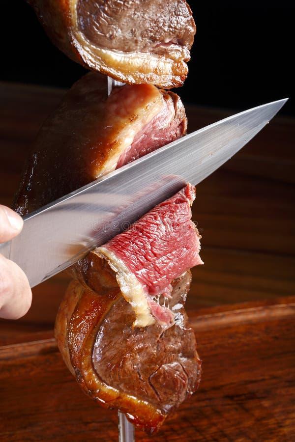 Undercooked barbecue royalty-vrije stock foto