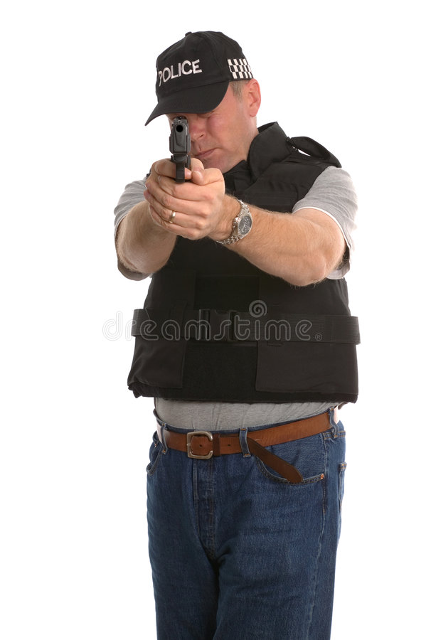 Free Undercover Armed Police Royalty Free Stock Image - 3351726