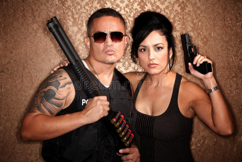 Undercover Cops Royalty Free Stock Images