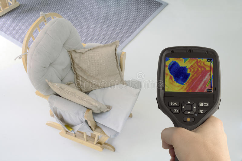 Underfloor θέρμανση Thermovision στοκ εικόνα με δικαίωμα ελεύθερης χρήσης