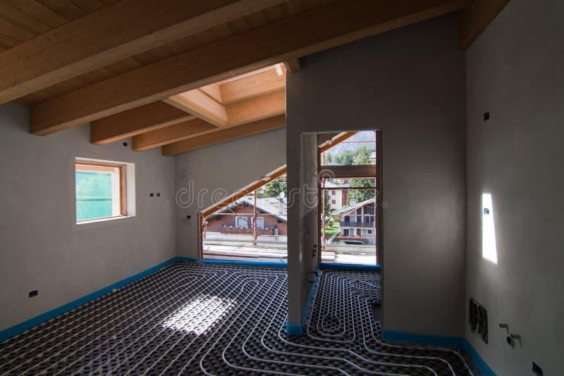 Underfloor heating stock image