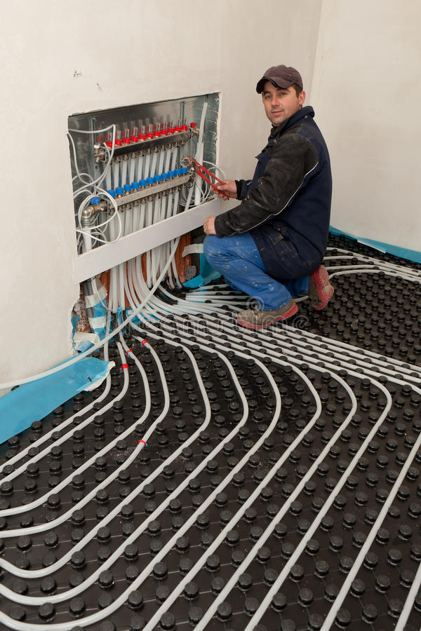 Underfloor heating and cooling stock photos