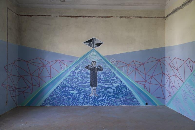 Form Art Term : Underground art editorial image of message croatia