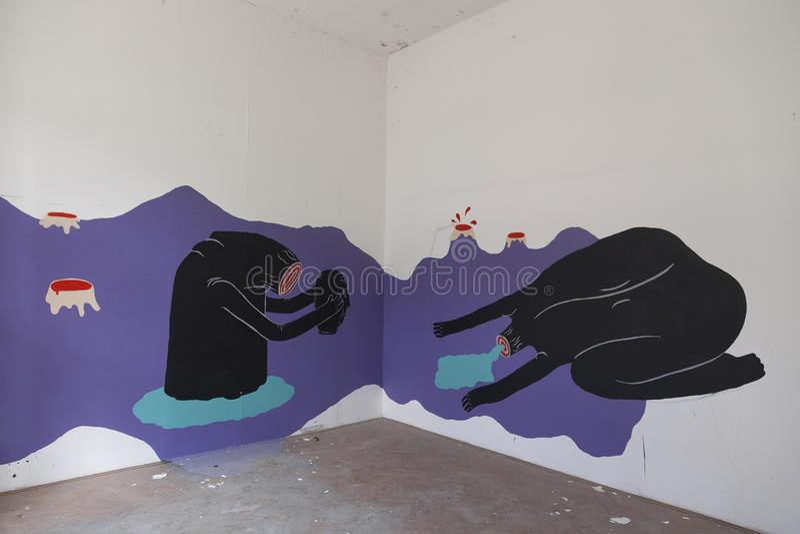 Form Art Term : Underground art editorial image of environment