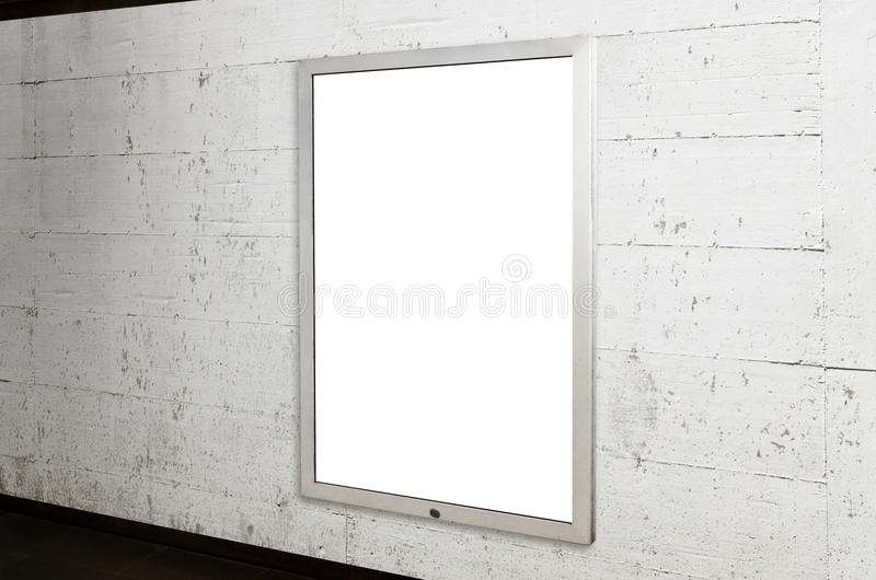 Underground billboard mockup. poster for advertising campaign promotion stock photography