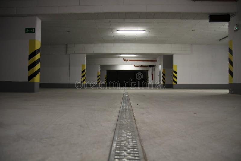 Underground car parking stock images