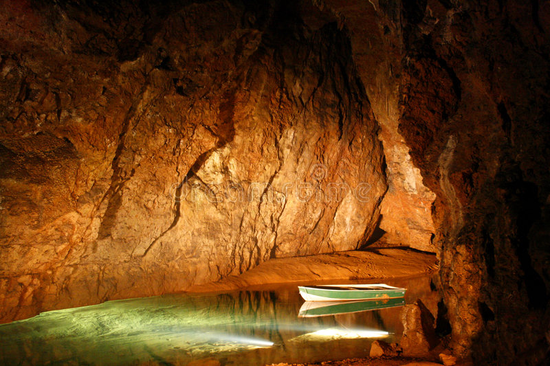 Download Underground cave stock photo. Image of water, lake, still - 6016566