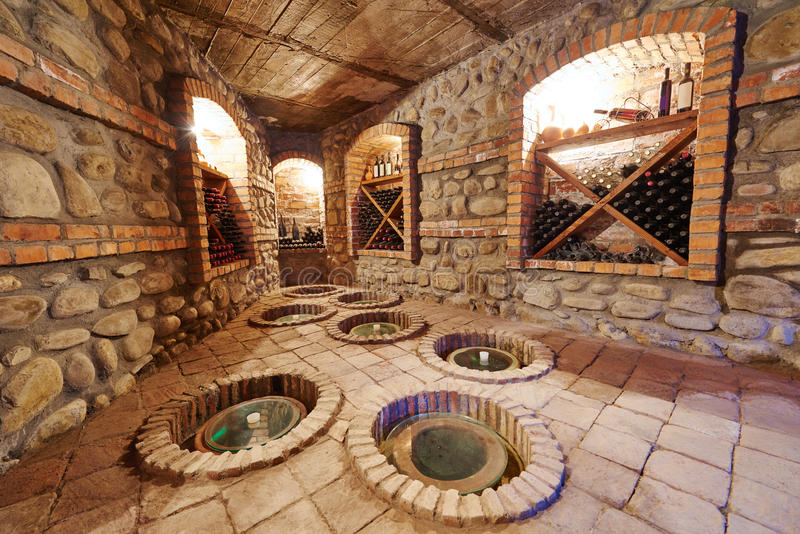 Download Underground Cellar For Storing Wine Stock Photo   Image: 71756620