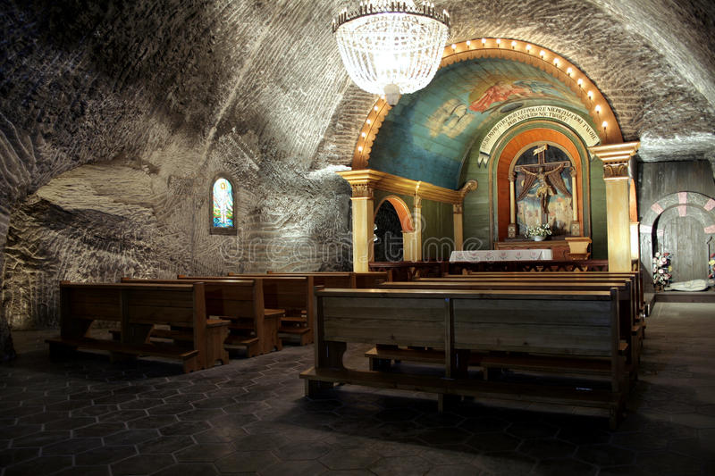 Underground chapel stock photography