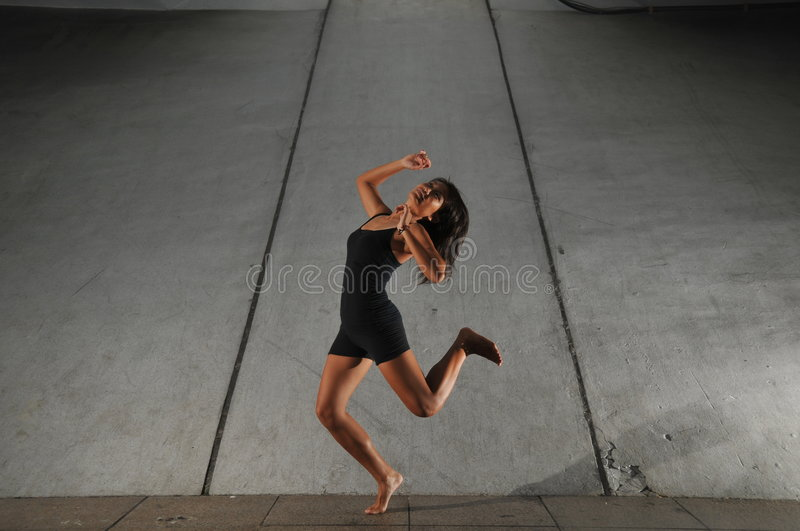 Underground Dance 6. Artistic Picture of a Dancer performing athletic contemporary dance moves royalty free stock photos