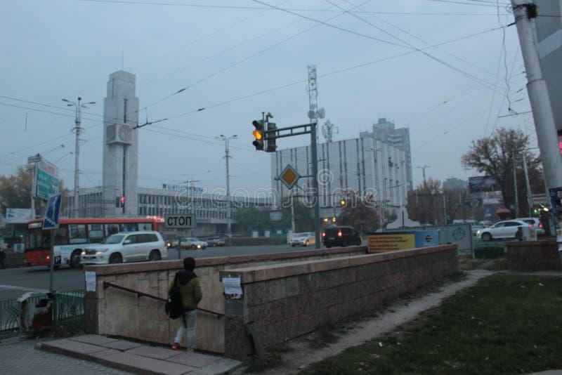 Underground in downtown Bishkek royalty free stock photos