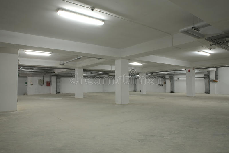 Download Underground empty parking stock image. Image of unfinished - 23596297