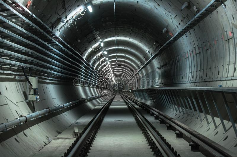 Underground facility with a big tunnel stock images