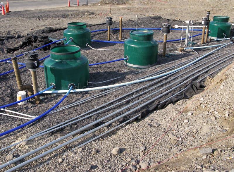 Underground Fuel Storage Tanks Stock Image Image Of