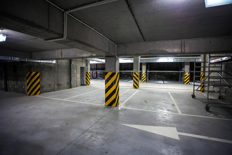 Underground garage under building parking lot stock photo for Garage building software free download