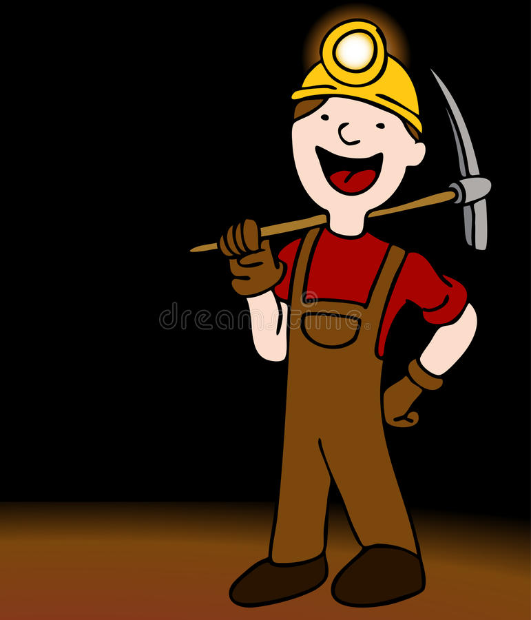 Underground Miner Cartoon Character Royalty Free Stock Photos