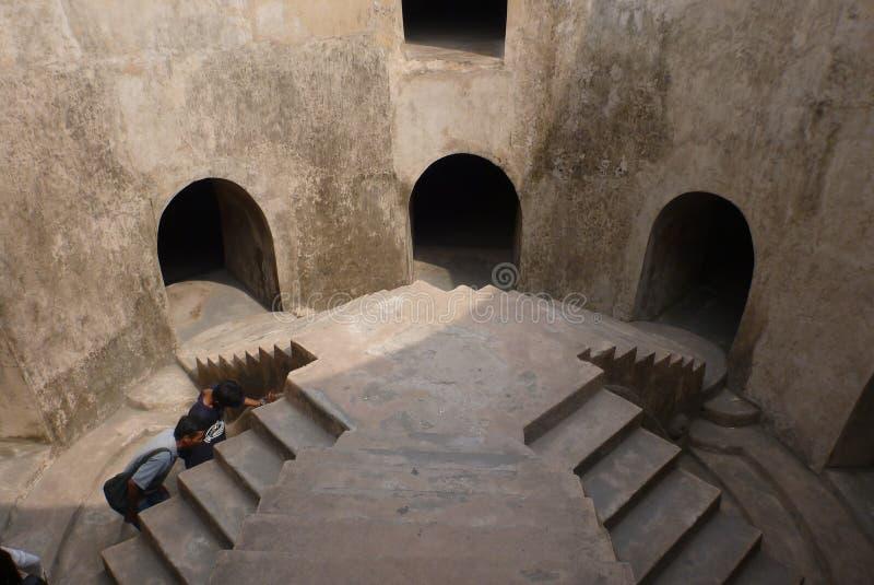 Underground mosque in jogjakarta stock photo