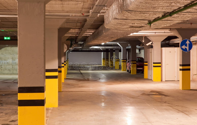 Download Underground parking stock image. Image of concrete, business - 19129927