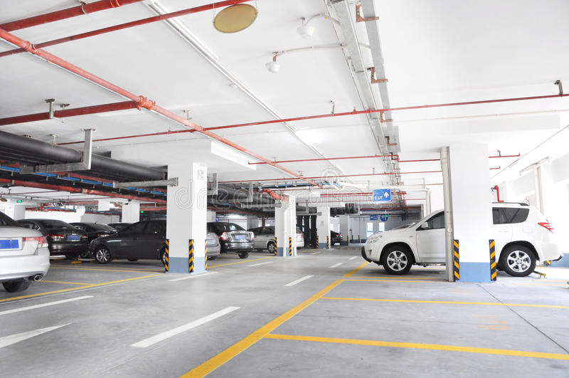 Download Underground parking stock image. Image of inside, parking - 26181895