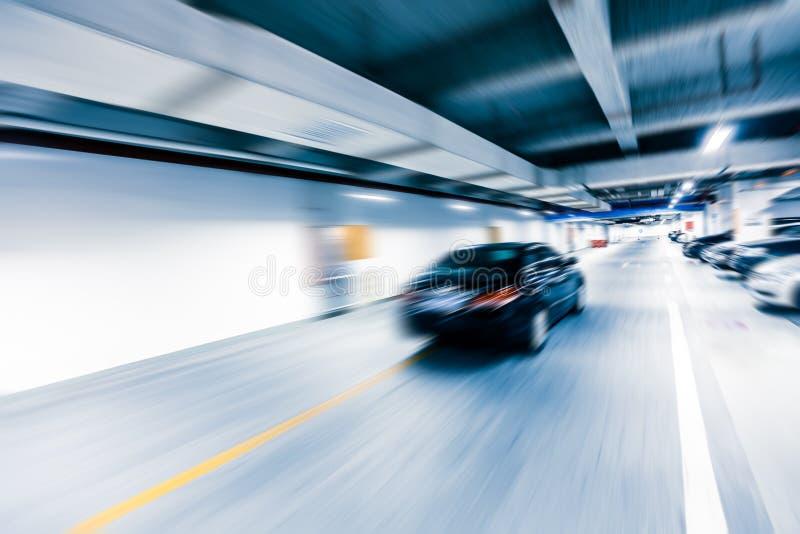 Underground parking garage royalty free stock photo