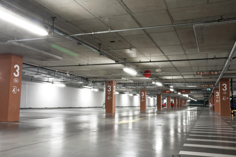 Underground parking lot royalty free stock images