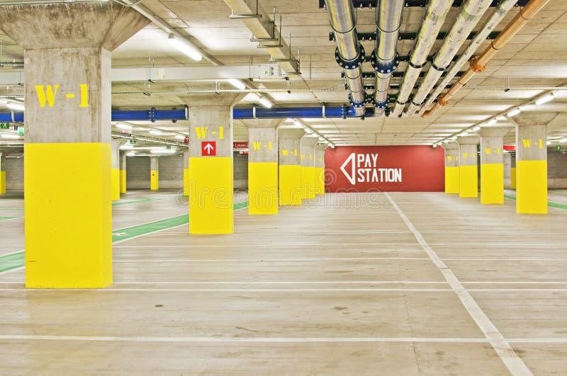 Underground Parking Lot royalty free stock photo
