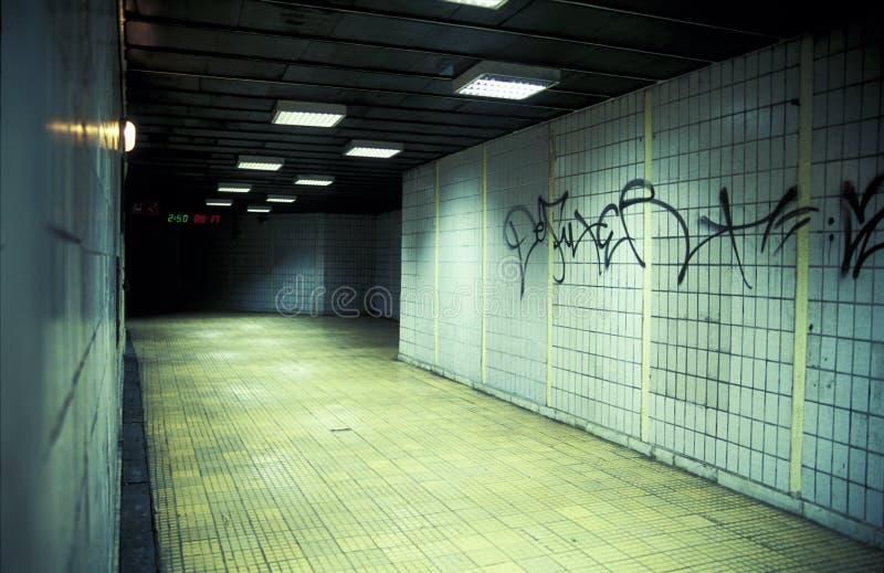 Download Underground passage stock image. Image of spray, tile - 5140523