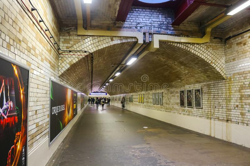 Underground with people walking near Gloucester Road Station London UK stock photography