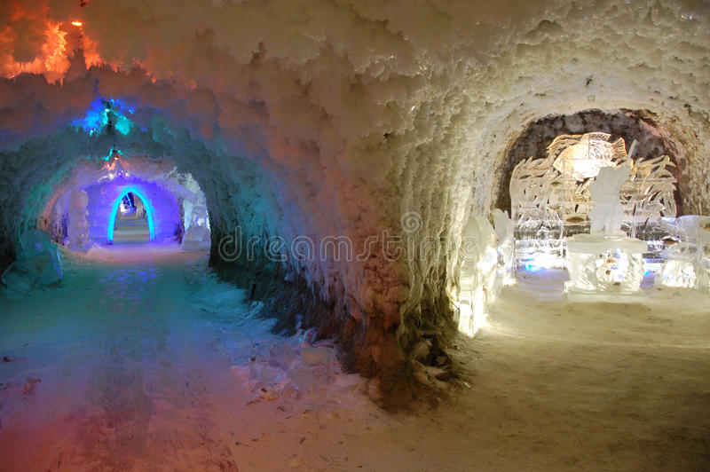 Underground permafrost museum at Yakutsk Russia stock photos