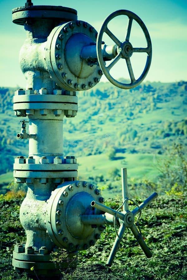 Underground Pipeline Valves stock photo